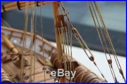 LEUDO Scale 1/48 430mm 17 Wood Ship Model Kit Sailboat model kit