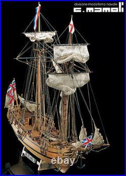 MAMOLI Shooner HALIFAX 1774 wood ship kit model NEW MIB