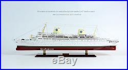 MS Kungsholm Ocean Liner Swedish American Line 40 Handmade Wooden Ship Model