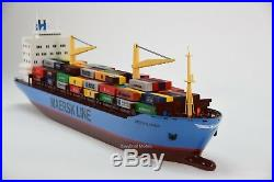 Maersk Alabama Container Ship 36 N Scale Waterline Handmade Wooden Ship Model