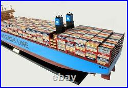 Maersk Madrid Container Wooden Ship Model Ready Display