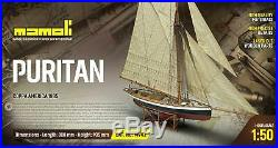 Mamoli MV43 Puritan Model Ship Kit Coppa America 1885 Scale 1/50