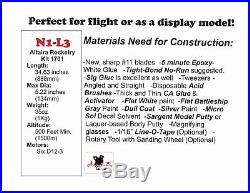 N1 Flying Model Rocket 1/122 Scale Altaira Rocketry (Shipping 11-14-17)