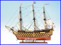 NEW WOODEN MODEL SHIP BOAT HMS VICTORY 95cm PAINTED GREAT GIFT DECORATION