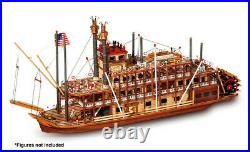 Occre Mississippi Paddle Steamer 180 Scale 14003 Wooden Model Boat Kit