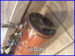 Old Large Stuart Boat Marine Ship Steam Engine Boiler Gauge Live Steam wood