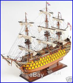 Painted HMS Victory British Royal Navy 1774 Wood Tall Ship Model 37 Fully Built