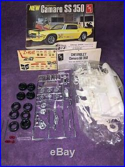 RARE VINTAGE AMT T416 New Camaro SS 350, Open Sealed Bag Un-built FREE SHIPPING