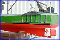RC Shrimp Fishing Boat Built Wood Model Ship Assembled Boat Ship Nautical