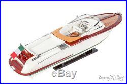 RIVA AQUARIVA GUCCI Model Boat Ship Completed Handmade Wooden Scale Model 70cm