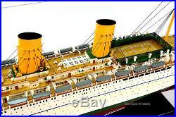 RMS Empress of Britain Ocean Liner Handmade Wooden Ship Model 37 Scale 1250