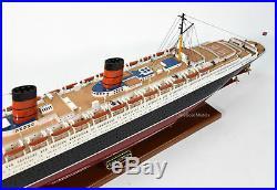 RMS Queen Elizabeth Cunard Line Ocean Liner Wooden Ship Model 39