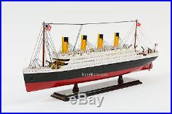RMS Titanic Cruise Ship 25 Handmade Wooden Model Ship NEW