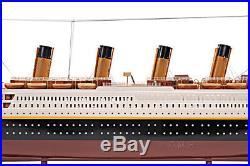 RMS Titanic Ocean Liner Wooden Model 25 White Star Line Cruise Ship New