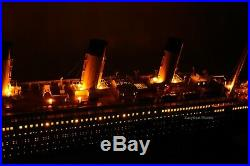 RMS Titanic White Star Line Cruise Ship Model 53 with lights Top Quality