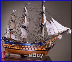 ROYAL LOUIS 42 wood model ship historic French tall sailing boat