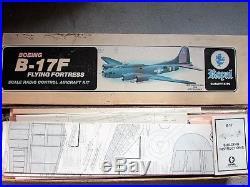 Rare Royal B-17 RC balsa flying model kit. World War 2 warbird. Free shipping