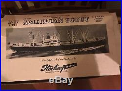 Rare Vintage Sterling American Scout C-2 Wooded Ship Model Building Kit Hobby