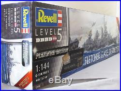 Revell 1144 05150 Fletcher Class Destroyer Platinum Range Model Ship Kit