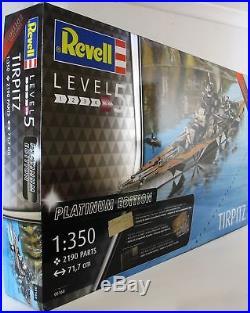 Revell 1350 05160 TIRPITZ Platinum Edition Model Ship Kit | Model