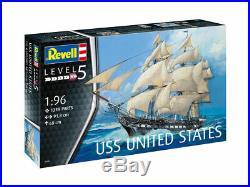 Revell Germany 5606 USS United States Sailing Ship model kit 1/96