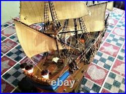 Revell Zvezda Pirate ship, Black Pearl 172 set of Black sails by CNC mach