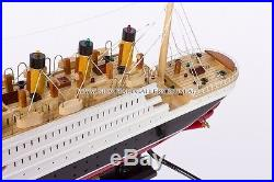 Rms Titanic Wooden Model Ship 42cm With Lights Handmade Model Cruise Great Gift