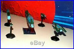 Robotech / Macross Zentraedi Attack Fleet Miniature Set (5 Ships+stands, Metal)