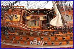 Royal Louis 1779 Wooden Model Tall Ship 37 Sailboat Built Boat New