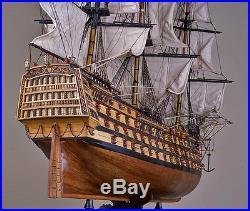 SANTISIMA TRINIDAD 44 wood model ship large scaled Spanish sailing boat