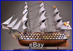 SANTISIMA TRINIDAD 53 wood model ship large scaled Spanish sailing boat