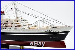 SS Andrea Doria Italian Line Ocean Liner Wooden Ship Model 34 Scale 1250