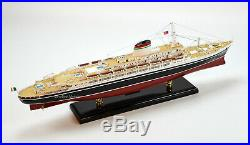 SS Andrea Doria Ocean Liner Handmade Wooden Ship Model 34 Scale 1250
