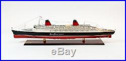 SS France French Line Flagship Ocean Liner Wooden Ship Model 41.5 Scale 1300