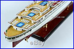 SS Leonardo da Vinci Italian Line Ocean Liner Wooden Ship Model 34