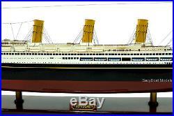 SS Vaterland Ocean Liner Handmade Wooden Ship Model 38 Scale 1300