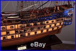 San Felipe 42 model wood ship Spanish navy wooden tall ship sailing boat