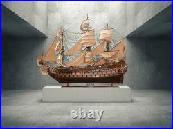 San Felipe Spanish Armada Galleon Tall Ship 158 Massive 13 Foot Wood Model