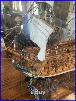 San Felipe model wood ship Display Spanish navy wooden tall ship sailing boat