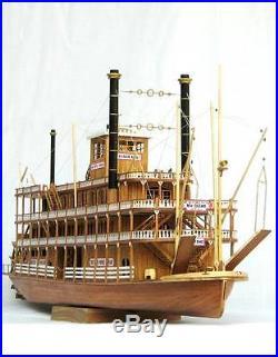 Scale 1/100 USS MISSISSIPPI 1870 wood ship model kit steamboat wood model kit