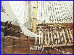 Scale 1/50 Santa Maria Columbus Flagship 1492 Wooden Model ship Kit 3D laser cut