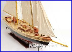 Schooner Bluenose II Wooden Sailing Ship Model 47 Sailboat Fully Assembled New