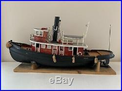 Seguin RC Marine Tugboat, Live Steam Engine 39 Old Vintage Wood Boat