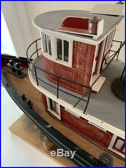 Seguin Rc Marine Tugboat Live Steam Engine 39 Old Vintage Wood Boat