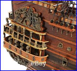 Soleil Royal Tall Ship Wooden Model 28 French Warship Built Boat New
