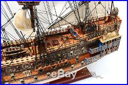 Sovereign of the Seas Tall Ship Assembled 37 Built Wooden Model Ship