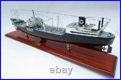 Texaco New York Oil Tanker 34 Handmade Wooden Oil Tanker Ship Model NEW