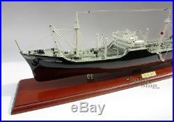 Texaco Ohio Oil Tanker 34 Handmade Wooden Oil Tanker Ship Model NEW