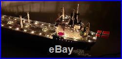 Texaco Stockholm with Lights Handmade Wooden Oil Tanker Ship Model