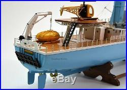 The Belafonte Steve Zissou's Ship Handmade Wooden Ship Model 36 with lights